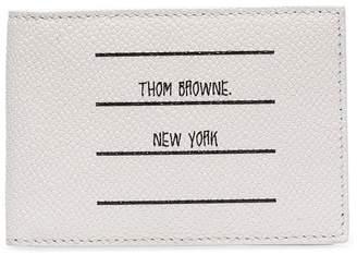 Thom Browne paper label billfold wallet