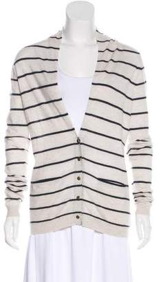 Theory Cashmere Striped Cardigan