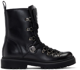 Moncler Black Berenice Combat Boots