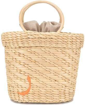 Poolside embroidered tote bag