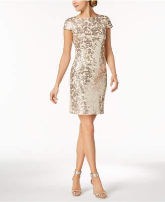 Calvin Klein Sequined Cowl-Back Dress