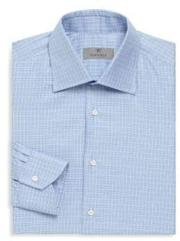Canali Cotton Long-Sleeve Dress Shirt