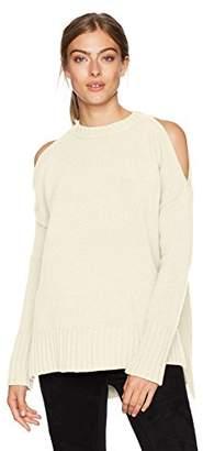 BCBGMAXAZRIA Women's Steffe Knit Cold Shoulder Sweater