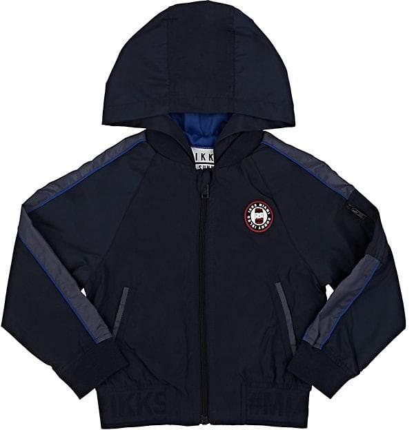 Kids' Hooded Tech-Fabric Zip-Front Jacket