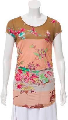 Etro Floral Print Ruched Top