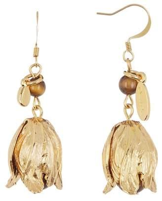 Oscar de la Renta Delicate Flower Drop Earrings