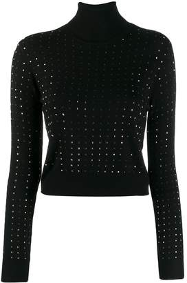 Liu Jo studded turtleneck fitted blouse