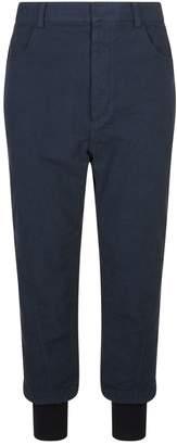 Haider Ackermann Cuffed Cotton Trousers