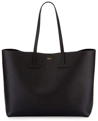 Tom Ford Large Grained Leather T Tote Bag