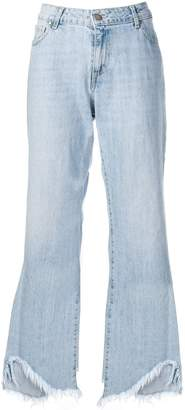FEDERICA TOSI frayed wide-leg jeans