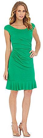 Betsey Johnson Pleated Bottom Sheath Dress