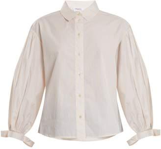 Frame Point-collar striped cotton shirt
