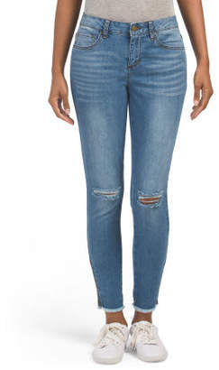 Jewel Mid Rise Slashed Knee Jeans