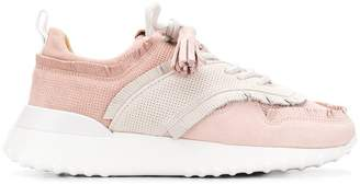 Tod's fringed suede sneakers