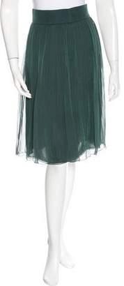 Akris Silk Pleated Skirt