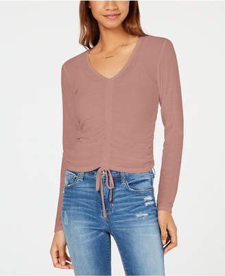 Ultra Flirt Juniors' Ruched Top