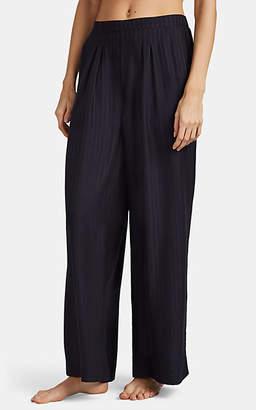 Eres Women's Artistic Silk Pajama Pants - Black