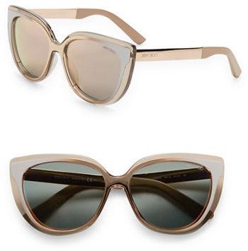 Jimmy ChooJimmy Choo Cindy 57MM Cat's-Eye Sunglasses