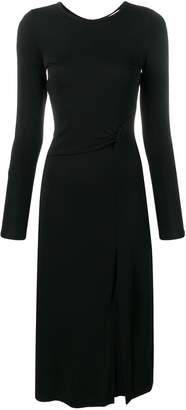 MICHAEL Michael Kors gathered detail fitted dress