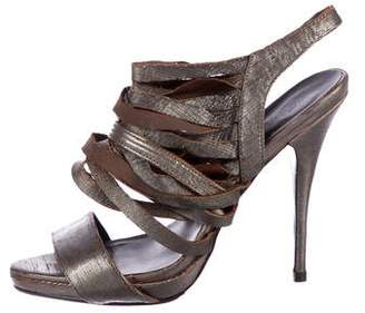 Elizabeth and James Distressed Cage Sandals
