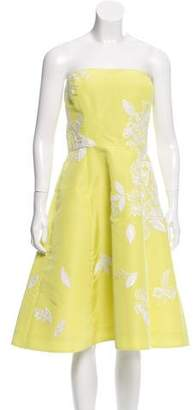 Oscar de la Renta Strapless Silk Dress w/ Tags