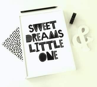 Sacred & Profane Designs Sweet Dreams Little One Print Kids Room Art Print