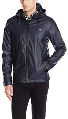Members Only Men's Coated Nylon Rain Jacket