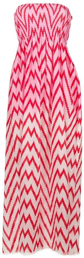 Capo zig-zag maxi beach dress - Pink & Purple Tara Matthews Outlet From China Pay With Visa Cheap Online Shopping Online Cheap Price Discount Outlet Locations Free Shipping Shopping Online Buc61U2