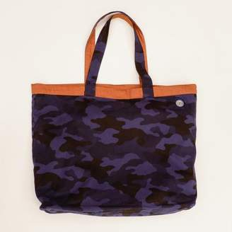 Blade + Blue Blue Camouflage Print & Solid Copper Reversible Jumbo Tote Bag