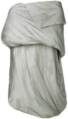 Rick Owens draped padded coat