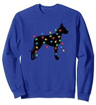 Christmas Holiday Lights Great Dane Dog Sweatshirt
