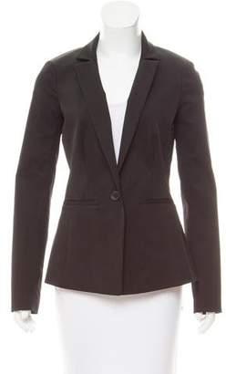 L'Agence Notch-Lapel Single Button Blazer