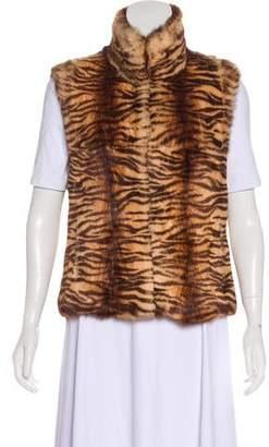 Adrienne Landau Casual Fur Vest
