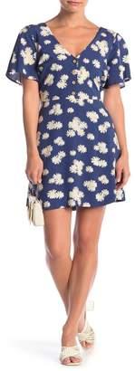 Lush Back Tie Floral Print Dress