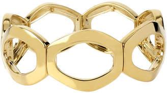 JCPenney Bold Elements Worthington Gold-Tone Openwork Oval Link Stretch Bracelet