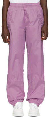 Acne Studios Purple Nylon Face Lounge Pants