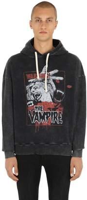 The Kooples Bleached Horror Print Sweatshirt Hoodie