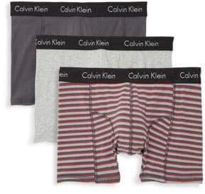 Calvin Klein Cotton-Blend Briefs/Pack Of 3