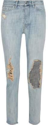IRO Distressed Mid-rise Slim-leg Jeans
