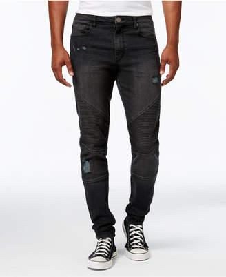 Jaywalker Men's Destructed Moto Jeans
