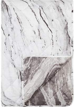 George Home Reversible Marble Print Quilted Throw