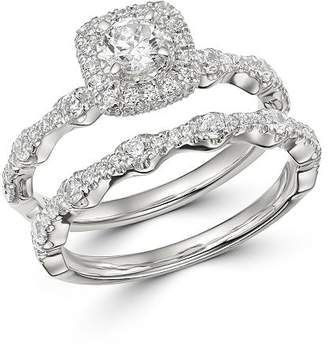 Bloomingdale's Diamond Engagement Ring & Band Set in 14K White Gold, 1.0 ct. t.w. - 100% Exclusive