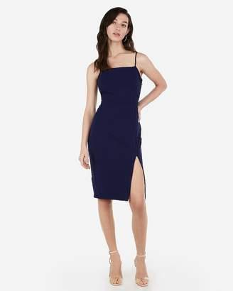 Express Front Slit Sheath Dress