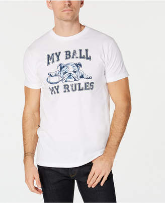 Club Room Men's Football Bulldog Graphic T-Shirt