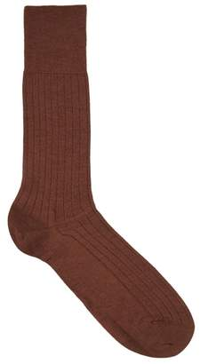 Falke Brown Cashmere Blend Socks