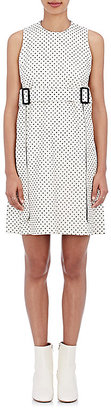 Calvin Klein Women's Kyra Tris L Polka Dot Leather Sheath Dress $1,995 thestylecure.com
