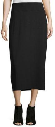 Eileen Fisher Straight Jersey Midi Skirt $138 thestylecure.com