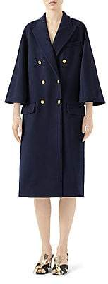 Gucci Women's Wool Admiral Caban Coat