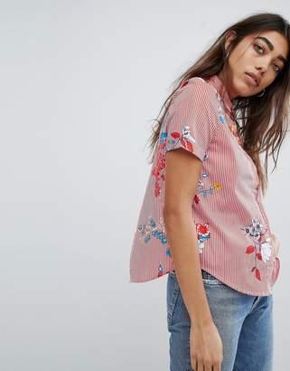 Noisy May Floral Printed Shirt