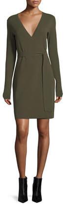 Diane von Furstenberg Long-Sleeve Knit Wrap Dress